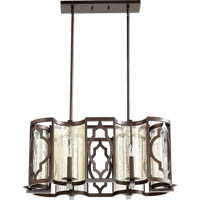 Ventana 6 Light 17 inch Oiled Bronze Chandelier Ceiling Light