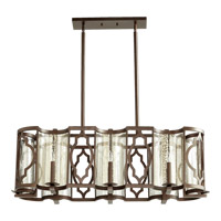 Ventana 8 Light 19 inch Oiled Bronze Chandelier Ceiling Light