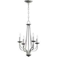 Quorum International Willingham 4 Light Chandelier in Classic Nickel 6112-4-64