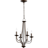 Quorum International Willingham 4 Light Chandelier in Oiled Bronze 6112-4-86