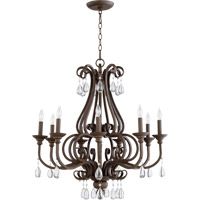 Quorum International Anders 9 Light Chandelier in Oiled Bronze 6113-9-86