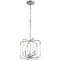 Quorum 6114-3-65 Optic 3 Light 13 inch Satin Nickel Pendant Ceiling Light