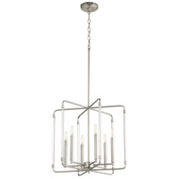 Quorum 6114-6-65 Optic 6 Light 20 inch Satin Nickel Pendant Ceiling Light