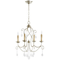 Quorum 6116-4-60 Cilia 22 inch Aged Silver Leaf Chandelier Ceiling Light