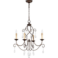 Quorum 6116-4-86 Cilia 4 Light 22 inch Oiled Bronze Chandelier Ceiling Light