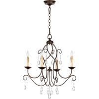 Quorum 6116-4-86 Cilia 4 Light 22 inch Oiled Bronze Chandelier Ceiling Light