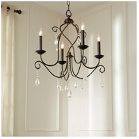 Quorum 6116-4-86 Cilia 4 Light 22 inch Oiled Bronze Chandelier Ceiling Light  alternative photo thumbnail