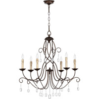 Quorum 6116-6-86 Cilia 6 Light 28 inch Oiled Bronze Chandelier Ceiling Light