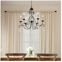 Quorum 6116-6-86 Cilia 6 Light 28 inch Oiled Bronze Chandelier Ceiling Light alternative photo thumbnail