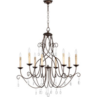 Quorum International Cilia 8 Light Chandelier in Oiled Bronze 6116-8-86