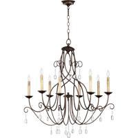 Quorum 6116-8-86 Cilia 8 Light 32 inch Oiled Bronze Chandelier Ceiling Light
