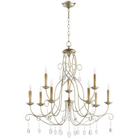 Quorum 6116-9-60 Cilia 32 inch Aged Silver Leaf Chandelier Ceiling Light