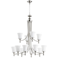 Quorum 6122-12-62 Rossington 12 Light 35 inch Polished Nickel Chandelier Ceiling Light