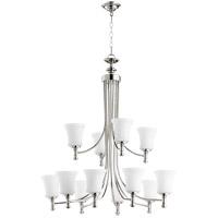 Quorum 6122-12-62 Rossington 12 Light 35 inch Polished Nickel Chandelier Ceiling Light