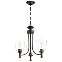 Quorum 6122-3-286 Rossington 3 Light 18 inch Oiled Bronze Chandelier Ceiling Light