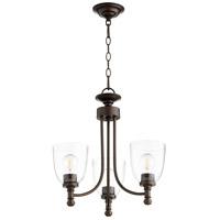 Quorum 6122-3-286 Rossington 3 Light 18 inch Oiled Bronze Chandelier Ceiling Light