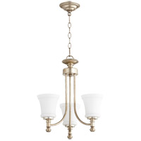 Rossington 3 Light 18 inch Aged Silver Leaf Chandelier Ceiling Light