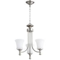 Quorum 6122-3-65 Rossington 3 Light 18 inch Satin Nickel Chandelier Ceiling Light
