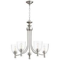 Quorum 6122-5-265 Rossington 5 Light 25 inch Satin Nickel Chandelier Ceiling Light