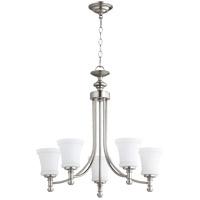 Quorum 6122-5-65 Rossington 5 Light 25 inch Satin Nickel Chandelier Ceiling Light