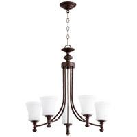 Quorum 6122-5-86 Rossington 5 Light 25 inch Oiled Bronze Chandelier Ceiling Light