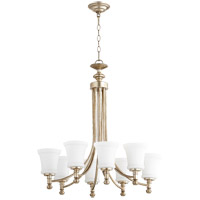 Quorum 6122-8-60 Rossington 8 Light 27 inch Aged Silver Leaf Chandelier Ceiling Light