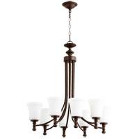 Quorum 6122-8-86 Rossington 8 Light 27 inch Oiled Bronze Chandelier Ceiling Light