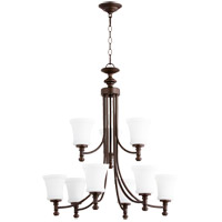 Quorum 6122-9-186 Rossington 9 Light 30 inch Oiled Bronze Chandelier Ceiling Light