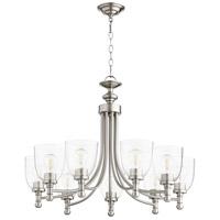 Quorum 6122-9-265 Rossington 9 Light 31 inch Satin Nickel Chandelier Ceiling Light