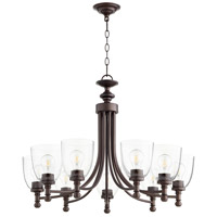Quorum 6122-9-286 Rossington 9 Light 31 inch Oiled Bronze Chandelier Ceiling Light