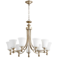 Quorum 6122-9-60 Rossington 9 Light 31 inch Aged Silver Leaf Chandelier Ceiling Light