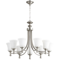 Quorum 6122-9-65 Rossington 9 Light 31 inch Satin Nickel Chandelier Ceiling Light