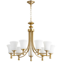 Quorum 6122-9-80 Rossington 9 Light 31 inch Aged Brass Chandelier Ceiling Light