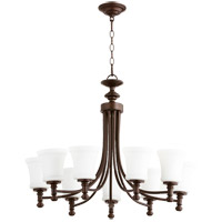 Quorum 6122-9-86 Rossington 9 Light 31 inch Oiled Bronze Chandelier Ceiling Light