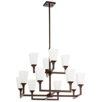 Wright 12 Light 17 inch Oiled Bronze Chandelier Ceiling Light