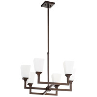 Wright 6 Light 24 inch Oiled Bronze Chandelier Ceiling Light