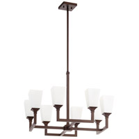 Wright 8 Light 14 inch Oiled Bronze Chandelier Ceiling Light