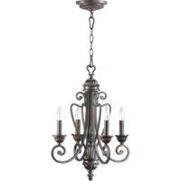 Quorum 6126-4-44 Summerset 4 Light 15 inch Toasted Sienna Chandelier Ceiling Light
