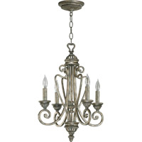 Quorum International Summerset 4 Light Chandelier in Mystic Silver 6126-4-58