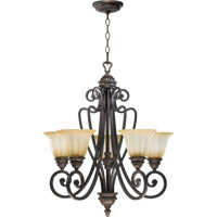 Quorum 6126-5-44 Summerset 5 Light 24 inch Toasted Sienna Chandelier Ceiling Light