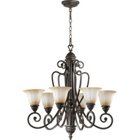 Summerset 6 Light 29 inch Toasted Sienna Chandelier Ceiling Light