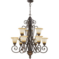 Summerset 9 Light 33 inch Toasted Sienna Chandelier Ceiling Light