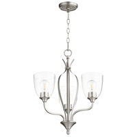 Quorum 6127-3-265 Jardin 3 Light 20 inch Satin Nickel Chandelier Ceiling Light