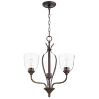 Quorum 6127-3-286 Jardin 3 Light 20 inch Oiled Bronze Chandelier Ceiling Light