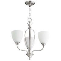 Quorum 6127-3-65 Jardin 3 Light 20 inch Satin Nickel Chandelier Ceiling Light