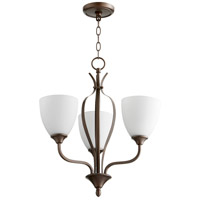 Quorum 6127-3-86 Jardin 3 Light 20 inch Oiled Bronze Chandelier Ceiling Light