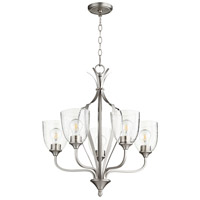 Quorum 6127-5-265 Jardin 5 Light 24 inch Satin Nickel Chandelier Ceiling Light