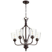 Quorum 6127-5-286 Jardin 5 Light 24 inch Oiled Bronze Chandelier Ceiling Light
