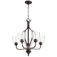 Quorum 6127-5-286 Jardin 5 Light 24 inch Oiled Bronze Chandelier Ceiling Light