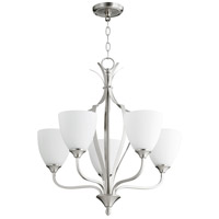 Quorum 6127-5-65 Jardin 5 Light 30 inch Satin Nickel Chandelier Ceiling Light